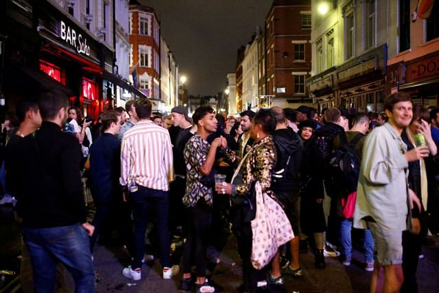 The absolute chaos outside the British pubs